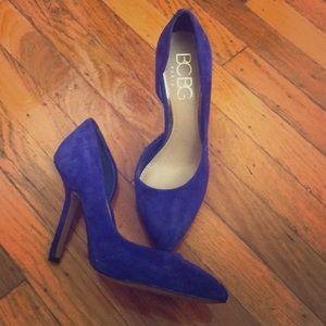 Suede BCBG Royal Blue Shoes